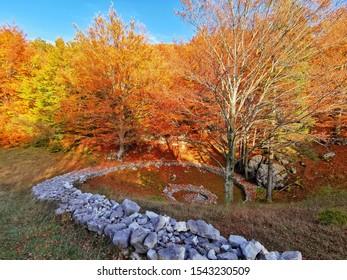 Stone spiral near Otliško okno in Slovenia, Europe - Shutterstock ID 1543230509