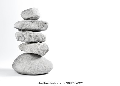 Stone stack, rocks or pebbles with copy space. Balance symbol.