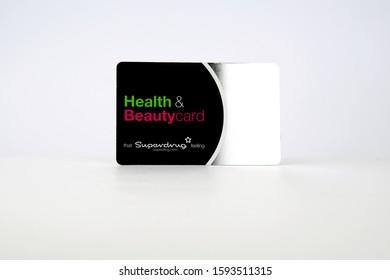 Stone, Staffordshire / United Kingdom - December 19 2019: Health & Beautycard from Superdrug store.