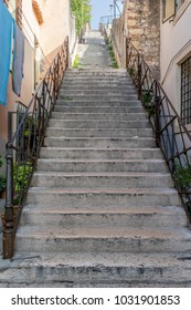 Stone staircase in Verona in Italy