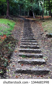 Stone stairs at the city park