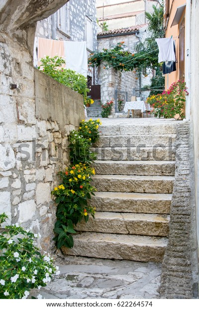 Stone Stairs Front Yard Old Mediterranean Stock Photo Edit Now