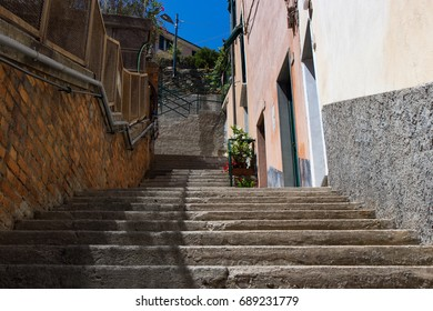 Stone Stairs at Vernazza Italy Cinque Terre