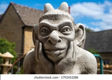 Stone statue of Goblin Face