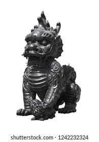 Stone statue. Guardian Lion Foo Fu dog guard,This has clipping path.