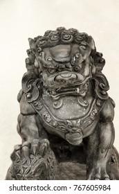 Stone statue Guardian Lion Foo Fu dog guard