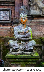 Stone statue at the Gunung Kawi Sebatu Temple, Ubud, Bali, Indonesia. The temple complex is located  approximately 12km northeast from the main Ubud hub.