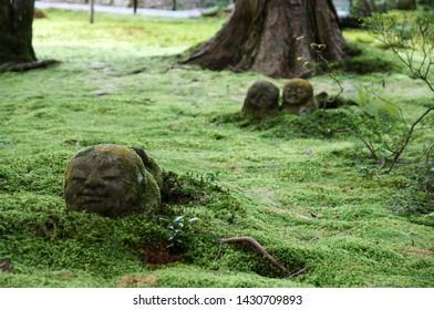 The stone statue of Jizo