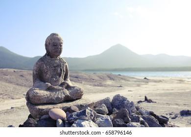 A stone statue of Jizo in Osore-zan Osore-zan is the name of a Buddhist temple and folk religion pilgrimage destination in the center of the remote Shimokita Peninsula of Aomori.