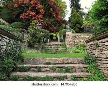Stone Steps in a Peaceful Garden