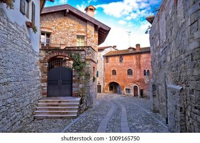Stone street and architecture of Cividale del Friuli, Friuli-Venezia Giulia region of Italy