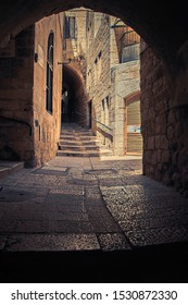 Stone streets of the ancient city. Jerusalem. Israel.