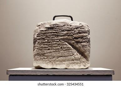 Stone suitcase