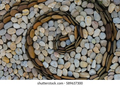 Stone surface  for foot massage