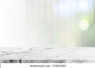 Stone table top and blurred bokeh background with vintage filter - can used for display or montage your products.