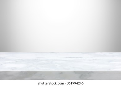 Stone table top on gray  gradient abstract background  - can be used for display or montage your products