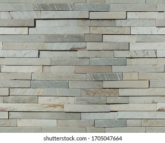 Stone Texture Background, Continuous Pattern, Repeat. Natural grey stone wall to replicate continuously, rustic rectangular geometric stone wall.