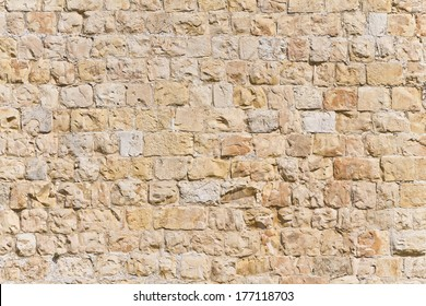Stone Texture of Jerusalem Old City Walls