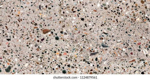 stone texture with multi color dots figure.