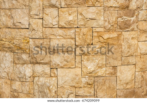 The  stone  texture  on  the  wall  for  background   design