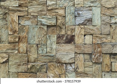 Stone tile textured wall