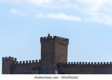 Stone tower of the old Genoese fortress in Sudak