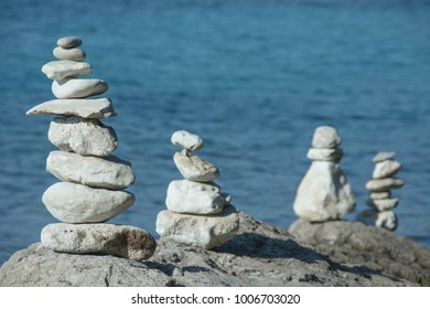 a stone tower on the shore