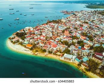 Stone Town, Zanzibar Aerial