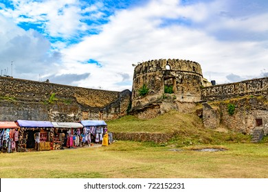 STONE TOWN, ZANZIBAR - August 14, 2017: Old Fort of Zanzibar in Stone Town, Zanzibar, Tanzania. It was built in late 17th century.