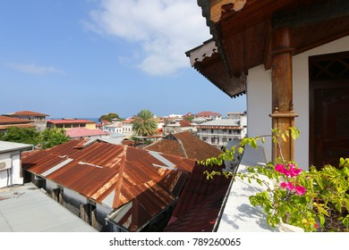 Stone Town in Zanzibar, view from above