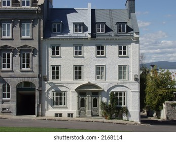 Stone townhouses in Old Quebec City, Quebec, Canada.