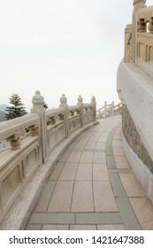 Stone walkway around big tian tan buddha hong kong