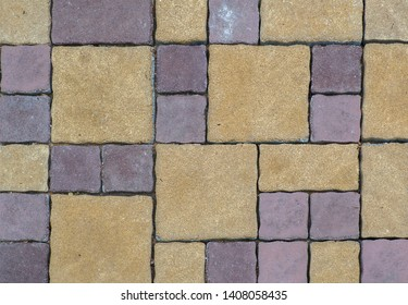 Stone walkway with flagstones of different colors & size
