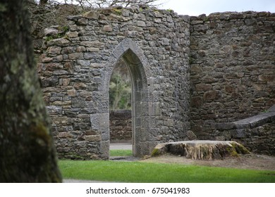 Stone wall with arch