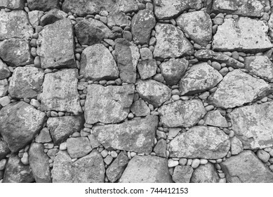 stone wall for background or texture