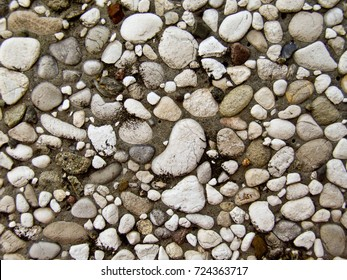Stone wall background and texture - Stock Image