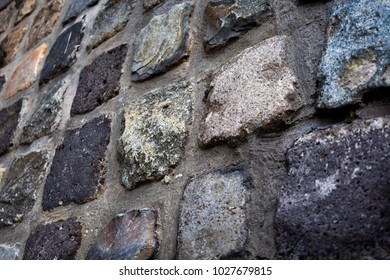 Stone Wall Cement Dark Wallpaper Black White Grey Old