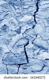 stone wall cracks, closeup of photo