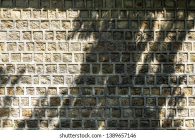 stone wall of deoksugung palace doldam gil road walkway in seoul, south korea