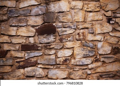 stone wall in detail