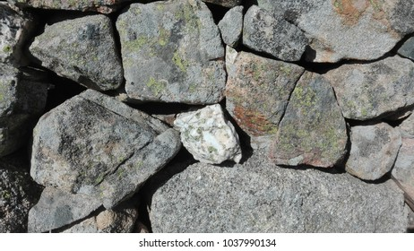 Stone wall in an drovers' road in Colmenar Viejo (Madrid, Spain).