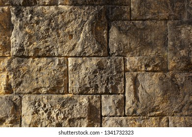 Stone Wall in grey yellow as Picture Background