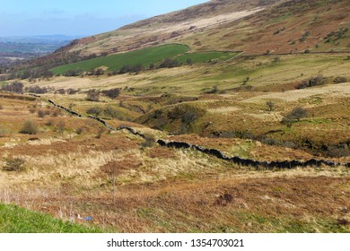 Stone wall in the hills