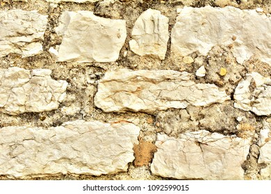 Stone wall for a natural background