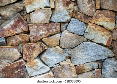 Stone wall. Outdoor background natural stone.