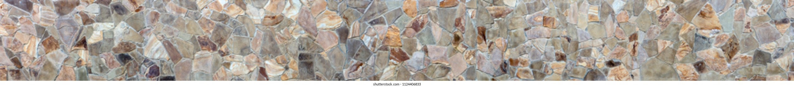 Stone wall, panorama, high resolution. Texture