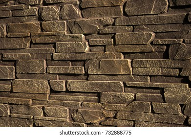 stone wall of sandstone
