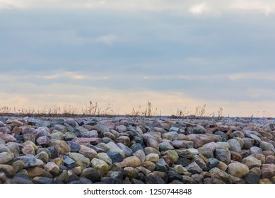 Stone wall at the seaside for protect against the waves
