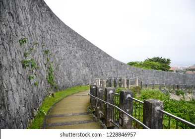 Stone wall at Shuri-castle in Okinawa,Japan
