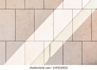 Stone wall striking light obliquely